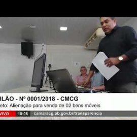 31/07/18 – LEILÃO 0001/2018 – Câmara Municipal de Campina Grande